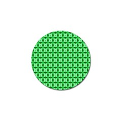 Green Abstract Tile Pattern Golf Ball Marker 10 Pack by creativemom