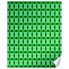 Green Abstract Tile Pattern Canvas 11  X 14  (unframed) by creativemom