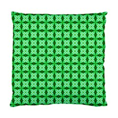 Green Abstract Tile Pattern Cushion Case (two Sided)  by creativemom