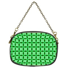 Green Abstract Tile Pattern Chain Purse (two Sided)