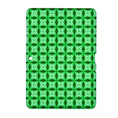 Green Abstract Tile Pattern Samsung Galaxy Tab 2 (10 1 ) P5100 Hardshell Case