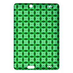 Green Abstract Tile Pattern Kindle Fire Hd (2013) Hardshell Case by creativemom