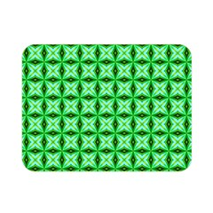 Green Abstract Tile Pattern Double Sided Flano Blanket (mini) by creativemom