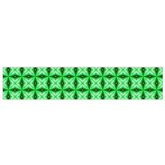 Green Abstract Tile Pattern Flano Scarf (small) by creativemom