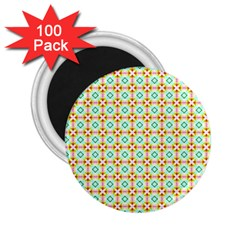 Aqua Mint Pattern 2 25  Button Magnet (100 Pack) by creativemom