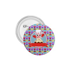 Cupcake With Cute Pig Chef 1 75  Button by creativemom