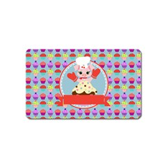 Cupcake With Cute Pig Chef Magnet (name Card) by creativemom