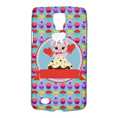 Cupcake With Cute Pig Chef Samsung Galaxy S4 Active (i9295) Hardshell Case by creativemom