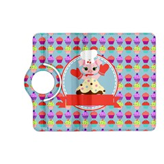 Cupcake With Cute Pig Chef Kindle Fire Hd (2013) Flip 360 Case by creativemom