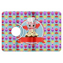 Cupcake With Cute Pig Chef Kindle Fire Hdx Flip 360 Case by creativemom