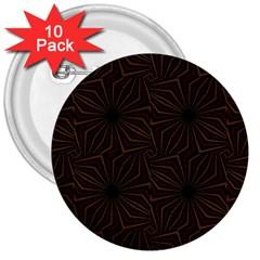 Tribal Geometric Vintage Pattern  3  Button (10 Pack) by dflcprints