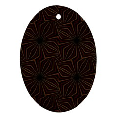 Tribal Geometric Vintage Pattern  Oval Ornament (two Sides) by dflcprints