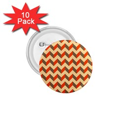 Modern Retro Chevron Patchwork Pattern  1.75  Button (10 pack) by creativemom