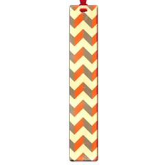 Modern Retro Chevron Patchwork Pattern  Large Bookmark by creativemom