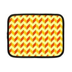 Modern Retro Chevron Patchwork Pattern  Netbook Sleeve (small) by creativemom