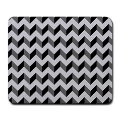 Modern Retro Chevron Patchwork Pattern  Large Mouse Pad (rectangle) by creativemom