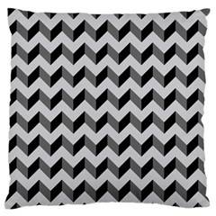 Modern Retro Chevron Patchwork Pattern  Large Flano Cushion Case (two Sides) by creativemom