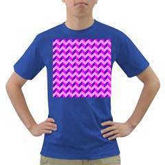 Modern Retro Chevron Patchwork Pattern Men s T Shirt (colored) by creativemom