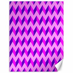 Modern Retro Chevron Patchwork Pattern Canvas 12  x 16  (Unframed) by creativemom