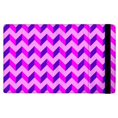 Modern Retro Chevron Patchwork Pattern Apple Ipad 3/4 Flip Case by creativemom