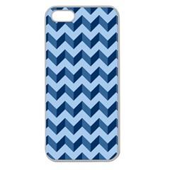 Tiffany Blue Modern Retro Chevron Patchwork Pattern Apple Seamless Iphone 5 Case (clear) by creativemom