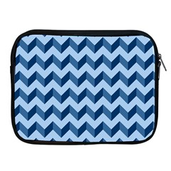 Tiffany Blue Modern Retro Chevron Patchwork Pattern Apple Ipad Zippered Sleeve by creativemom