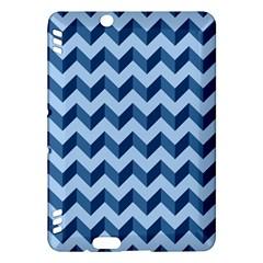Tiffany Blue Modern Retro Chevron Patchwork Pattern Kindle Fire HDX Hardshell Case by creativemom