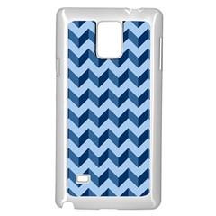 Tiffany Blue Modern Retro Chevron Patchwork Pattern Samsung Galaxy Note 4 Case (White) by creativemom
