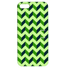 Green Modern Retro Chevron Patchwork Pattern Apple Iphone 5 Hardshell Case With Stand by creativemom