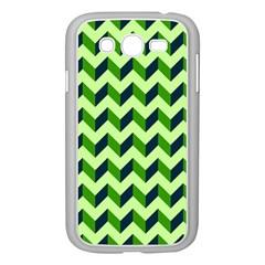 Green Modern Retro Chevron Patchwork Pattern Samsung Galaxy Grand Duos I9082 Case (white) by creativemom