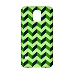 Green Modern Retro Chevron Patchwork Pattern Samsung Galaxy S5 Hardshell Case  by creativemom