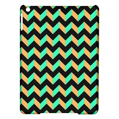 Neon And Black Modern Retro Chevron Patchwork Pattern Apple Ipad Air Hardshell Case by creativemom