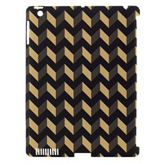 Tan Gray Modern Retro Chevron Patchwork Pattern Apple Ipad 3/4 Hardshell Case (compatible With Smart Cover) by creativemom