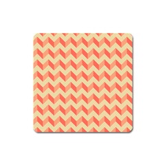 Modern Retro Chevron Patchwork Pattern Magnet (square) by creativemom
