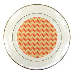 Modern Retro Chevron Patchwork Pattern Porcelain Display Plate by creativemom