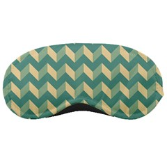 Mint Modern Retro Chevron Patchwork Pattern Sleeping Mask by creativemom