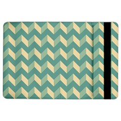 Mint Modern Retro Chevron Patchwork Pattern Apple Ipad Air 2 Flip Case