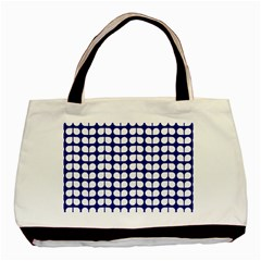 Blue And White Leaf Pattern Classic Tote Bag by creativemom