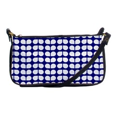 Blue And White Leaf Pattern Evening Bag by creativemom