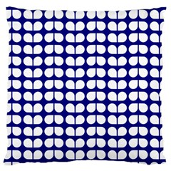 Blue And White Leaf Pattern Large Cushion Case (single Sided)  by creativemom