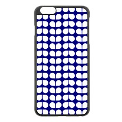 Blue And White Leaf Pattern Apple Iphone 6 Plus Black Enamel Case by creativemom