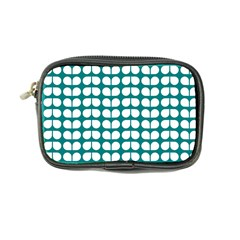 Teal And White Leaf Pattern Coin Purse by creativemom