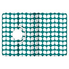Teal And White Leaf Pattern Kindle Fire Hdx Flip 360 Case by creativemom