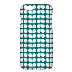 Teal And White Leaf Pattern Apple Iphone 6 Plus Hardshell Case by creativemom