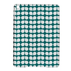 Teal And White Leaf Pattern Apple Ipad Air 2 Hardshell Case by creativemom
