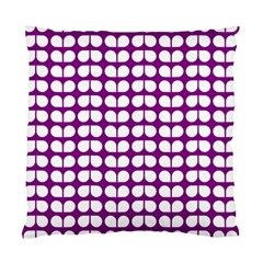 Purple And White Leaf Pattern Cushion Case (two Sided)  by creativemom