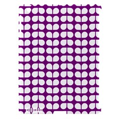 Purple And White Leaf Pattern Apple Ipad 3/4 Hardshell Case (compatible With Smart Cover) by creativemom