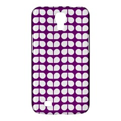 Purple And White Leaf Pattern Samsung Galaxy Mega 6 3  I9200 Hardshell Case by creativemom