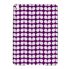 Purple And White Leaf Pattern Apple Ipad Air 2 Hardshell Case by creativemom