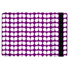 Purple And White Leaf Pattern Apple Ipad Air 2 Flip Case by creativemom